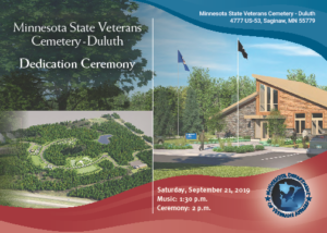 Minnesota State Veterans Cemetery-Duluth Dedication Ceremony